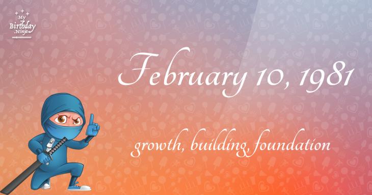 February 10, 1981 Birthday Ninja