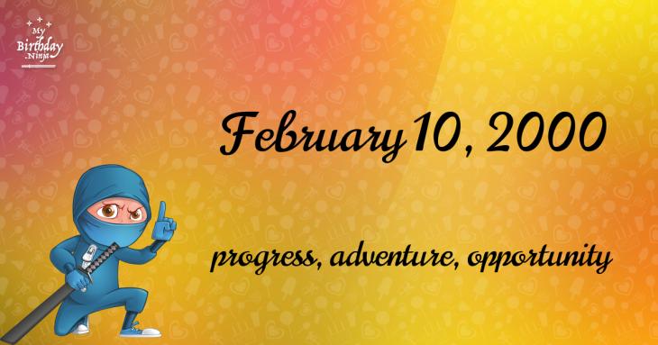 February 10, 2000 Birthday Ninja