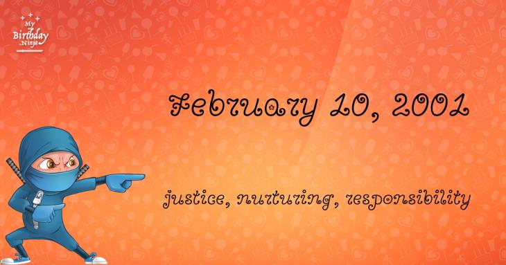 February 10, 2001 Birthday Ninja