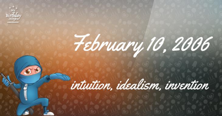 February 10, 2006 Birthday Ninja