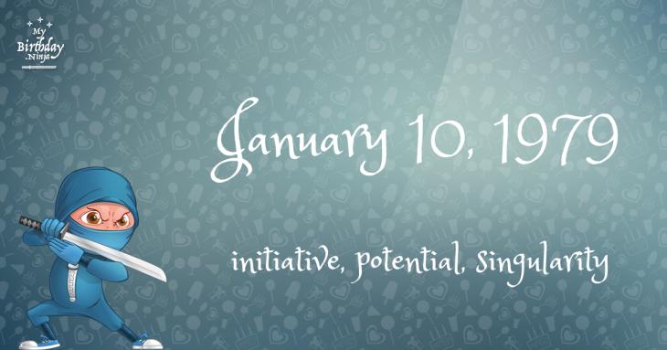 January 10, 1979 Birthday Ninja