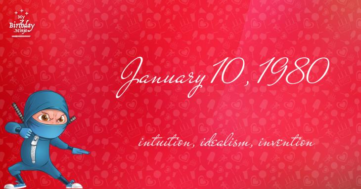 January 10, 1980 Birthday Ninja