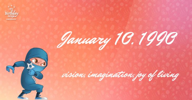 January 10, 1990 Birthday Ninja