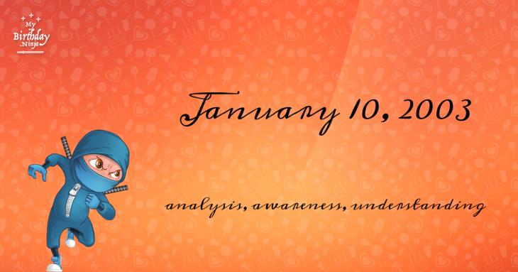 January 10, 2003 Birthday Ninja
