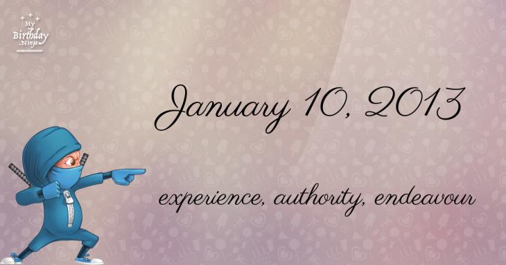 January 10, 2013 Birthday Ninja