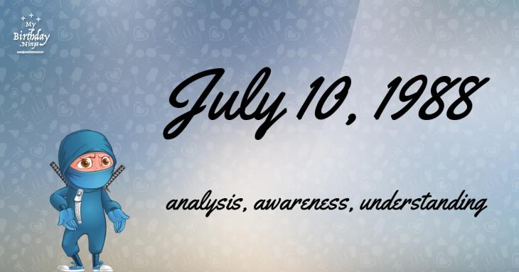July 10, 1988 Birthday Ninja