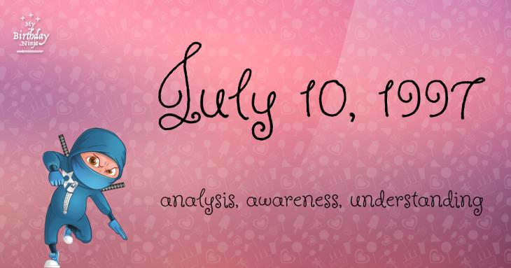 July 10, 1997 Birthday Ninja