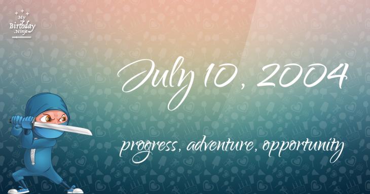 July 10, 2004 Birthday Ninja