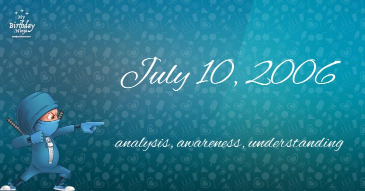 July 10, 2006 Birthday Ninja