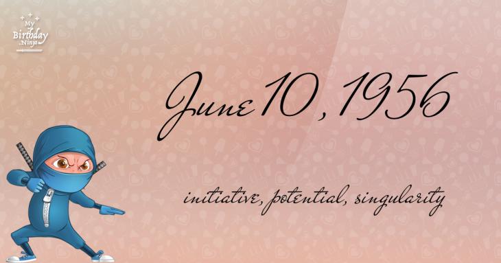 June 10, 1956 Birthday Ninja