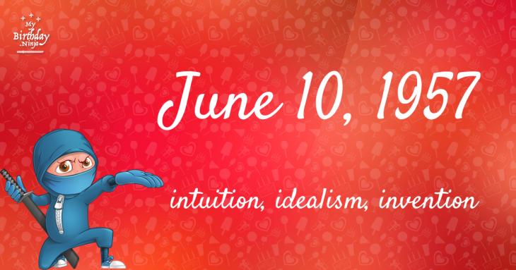 June 10, 1957 Birthday Ninja