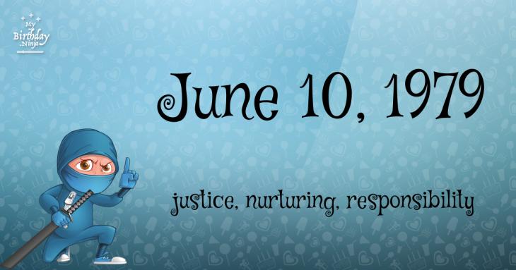 June 10, 1979 Birthday Ninja