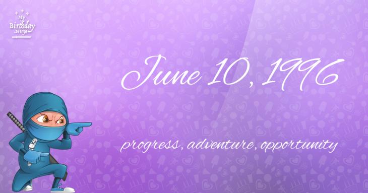 June 10, 1996 Birthday Ninja