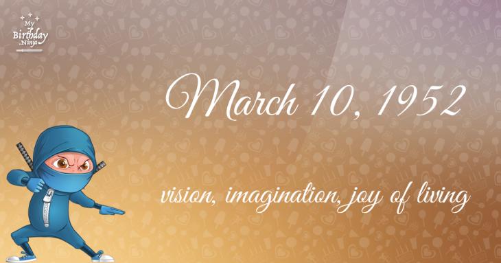 March 10, 1952 Birthday Ninja