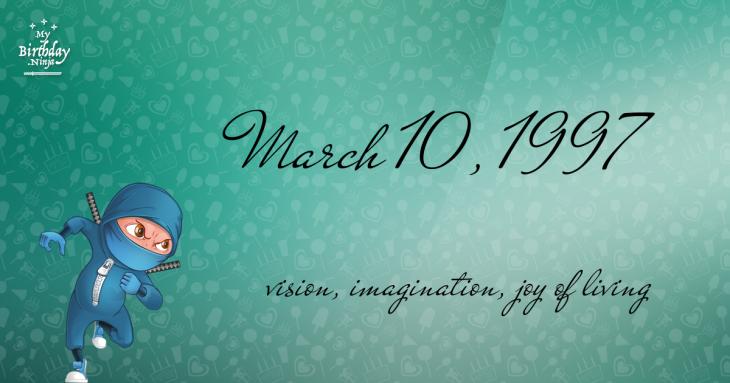 March 10, 1997 Birthday Ninja