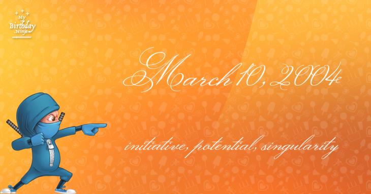 March 10, 2004 Birthday Ninja