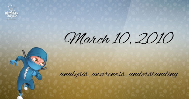 March 10, 2010 Birthday Ninja
