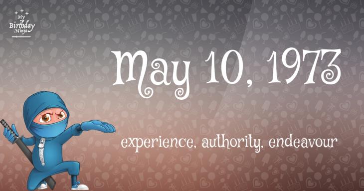 May 10, 1973 Birthday Ninja