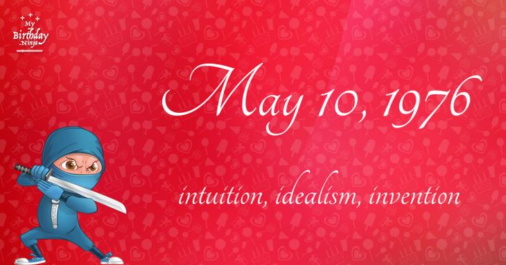 May 10, 1976 Birthday Ninja