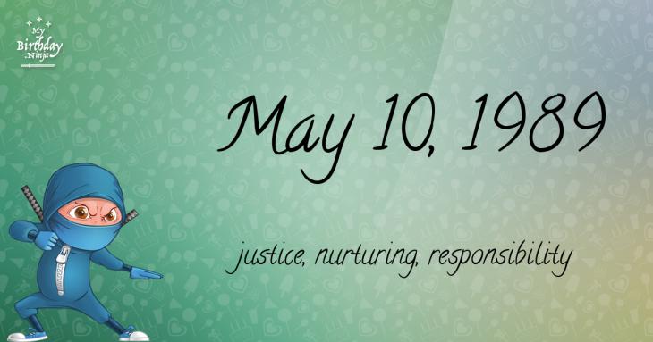 May 10, 1989 Birthday Ninja