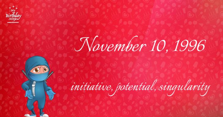 November 10, 1996 Birthday Ninja