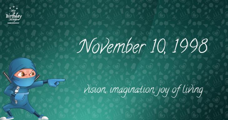 November 10, 1998 Birthday Ninja