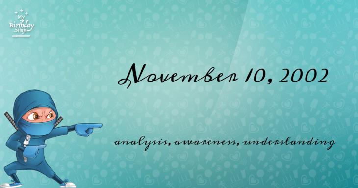 November 10, 2002 Birthday Ninja