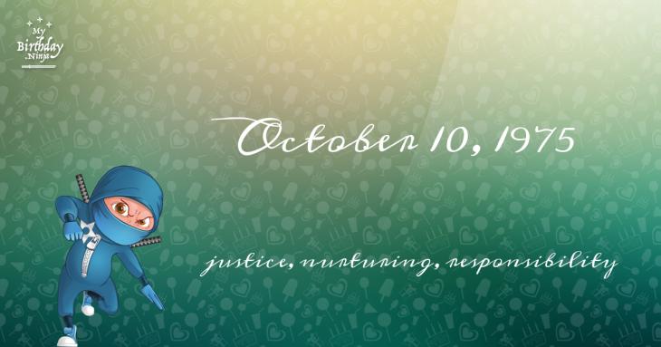 October 10, 1975 Birthday Ninja