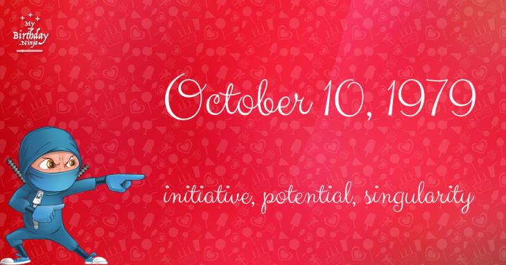 October 10, 1979 Birthday Ninja