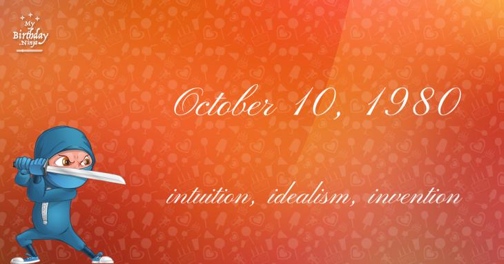 October 10, 1980 Birthday Ninja
