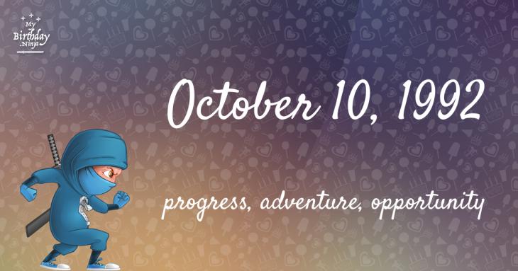 October 10, 1992 Birthday Ninja