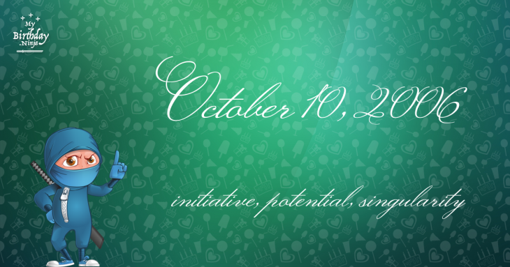 October 10, 2006 Birthday Ninja