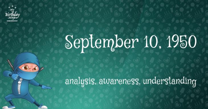 September 10, 1950 Birthday Ninja