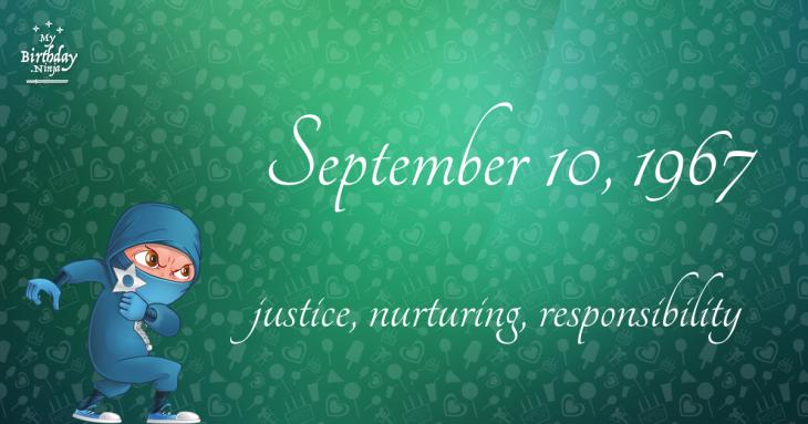 September 10, 1967 Birthday Ninja