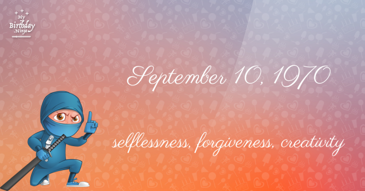 September 10, 1970 Birthday Ninja