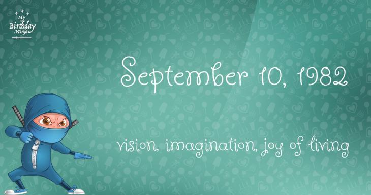 September 10, 1982 Birthday Ninja