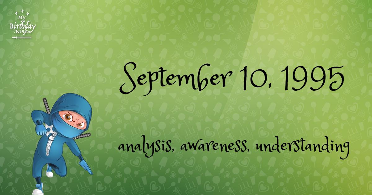 September 10, 1995 Birthday Ninja Poster