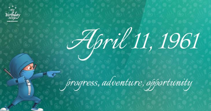 April 11, 1961 Birthday Ninja