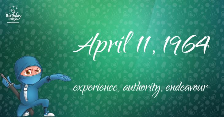 April 11, 1964 Birthday Ninja