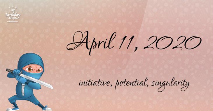 April 11, 2020 Birthday Ninja