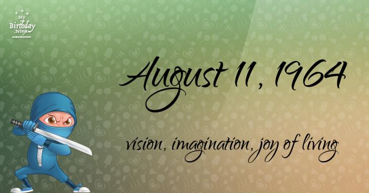 August 11, 1964 Birthday Ninja
