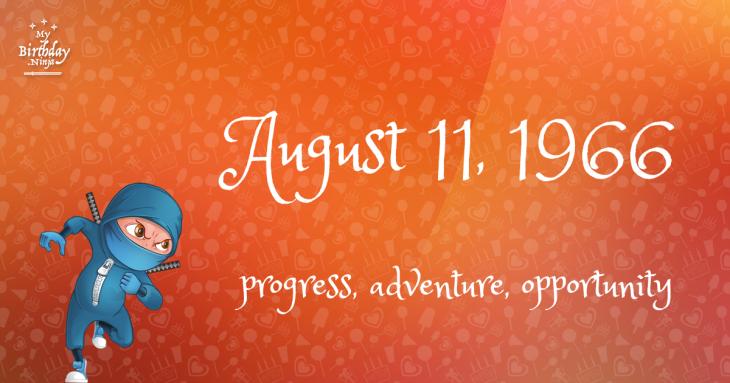 August 11, 1966 Birthday Ninja