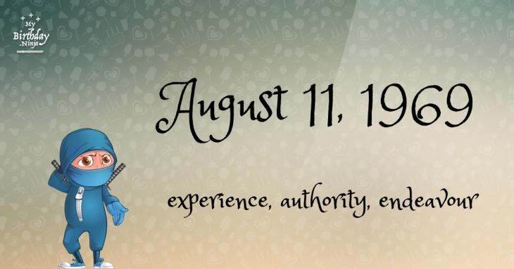 August 11, 1969 Birthday Ninja