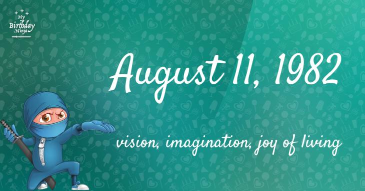 August 11, 1982 Birthday Ninja