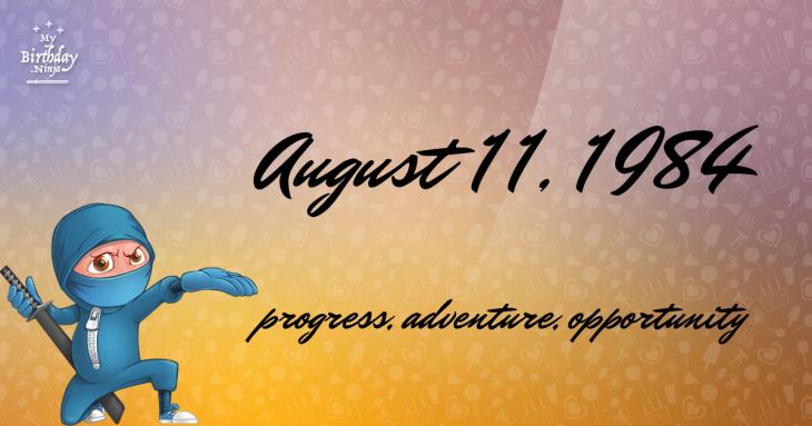 August 11, 1984 Birthday Ninja