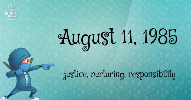 August 11, 1985 Birthday Ninja