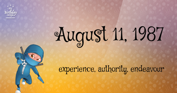August 11, 1987 Birthday Ninja