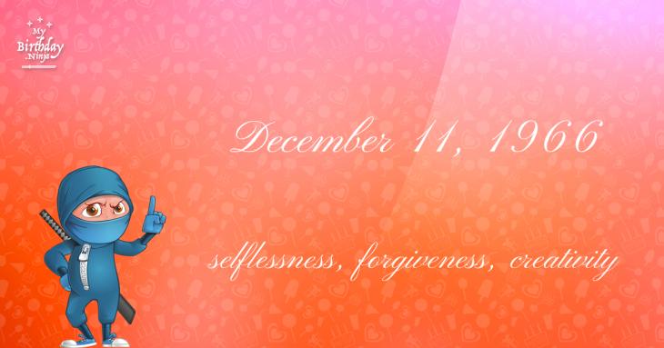 December 11, 1966 Birthday Ninja