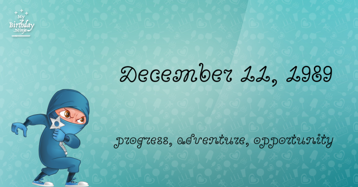 December 11, 1989 Birthday Ninja