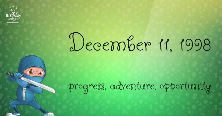 December 11, 1998 Birthday Ninja